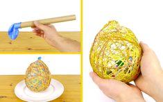 Come realizzare un uovo di Pasqua con lo spago #easterDIY #DIY #egg