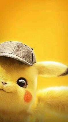 Adorable picture of Detective Pikachu - Pokemon Ideen Cute Pokemon Wallpaper, Cute Disney Wallpaper, Cute Cartoon Wallpapers, Wallpaper Iphone Cute, Wallpaper Lockscreen, Wallpaper Backgrounds, Phone Backgrounds, Pokemon Eeveelutions, O Pokemon