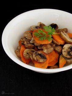 Pecena mrkva so sampinonmi Pot Roast, Indie, Stuffed Mushrooms, Healthy Recipes, Dishes, Button, Ethnic Recipes, Food, Carne Asada