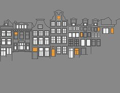 "Amsterdam illustration, cloudy day Check out new work on my @Behance portfolio: ""Amsterdam"" http://be.net/gallery/51431781/Amsterdam"