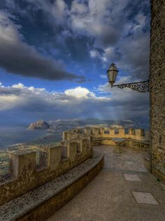 Sicily, Italy overlooking the Mediterranean Sea