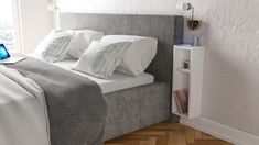 Noptiera Turra, Kalune Design, 20x15x65 cm, alb - mezoni.ro Mattress, Police, Couch, Modern, Furniture, Design, Home Decor, Products, Homemade Home Decor