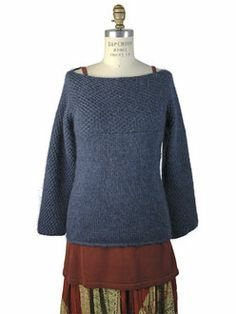 Rectangela is a super easy pullover composed of rectangles - no shaping! free pattern