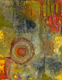 "Contemporary Artists of Louisiana: Abstract Alcohol Ink Painting ""Orb III"" by Contemporary New Orleans Artist Lou Jordan"