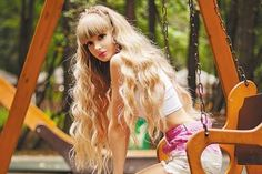 All our Angelica Kenova Pictures in an Infinite Scroll Mode Kawaii, Kawaii Girl, Think Thin, Human Doll, Cute Girl Dresses, Super Long Hair, Living Dolls, Pixee Fox, Atheist Symbol