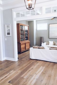 Wide Plank Hardwood Floors. Hardwood Floor Stain. Above Door Transoms. #hardwood #wideplank #hardwoodfloors