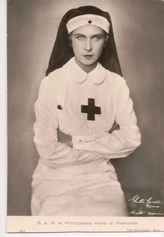 Princess Marie José of Belgium, Queen of Italy, was president of the Italian Red Cross during WWII.