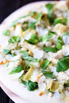 Spinach Artichoke and Chicken Pizza Recipe!  For all of your pizza, pasta, salad, pita, sub cravings visit Stosh's Pizza in Center Line, MI!  Give us a call at (586) 757-6836 to place your order or visit our website www.stoshspizza.com for more information!