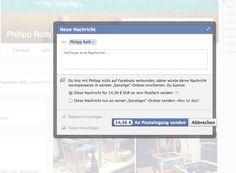 Bezahlte Privatnachrichten auf Facebook: Jetzt auch vermehrt in Deutschland im Test