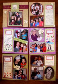 Mother's Day, Christmas, Special Birthday- need an idea your loved one will cherish?  Get the family to work together to create a simple scrapbook with and easy layout.  1 page or 6-  a small amount of time and effort to show your love and appreciation for your loved one is sure to make a wonderful keepsake!