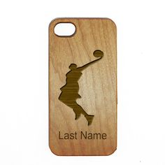 Basketball Wood Custom Cellphone Case Personalized Last Name
