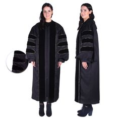 Black PhD Gown for Graduation