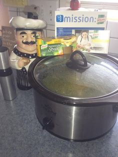 Marjorie M's Knorr kit and her delicious soup!
