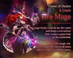 Awakened Main Character - Flame of Desire & Death, Fire Mage | Dragon Blaze