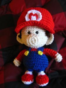Baby Mario Doll - Free Amigurumi Pattern here: http://goldenjellybean.com/youtube/other-video-game-dolls/baby-mario/