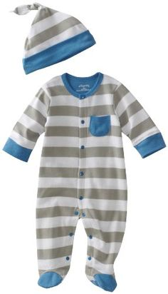 Amazon.com: Offspring - Baby Boys Footie and Hat: Clothing $16.50