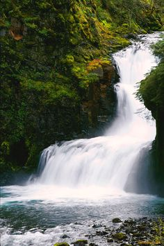 Tahmahnawis Falls, Mount Hood, Oregon. The Chinook Native American word for Spirit is Tahmahnawis.... So this actually is Spirit Falls......If one were to say Hyas Tahmahnawis, it would define as The High Spirit......This was taken a few years back along the Eagle Creek Trail in the Columbia River Gorge.