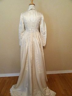 victoria  vintage  wedding dress  ivory  silk by afadedrosewedding, $110.00