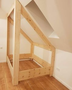 bed roof pitch Bring nature into the house: 16 DIY craft ideas with branches - Page 3 of 16 - DI . OTHERS on House bed roof pitch Attic Bedroom Decor, Attic Bedrooms, Attic Bathroom, Bathroom Plumbing, Bedroom Ideas, Teenage Attic Bedroom, Pink Bedrooms, Bedroom Small, Remodel Bathroom