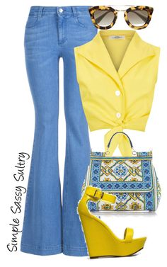 """""""Sunshine"""" by simplesassysultry on Polyvore featuring STELLA McCARTNEY, Dolce&Gabbana, Prada and Breckelle's"""