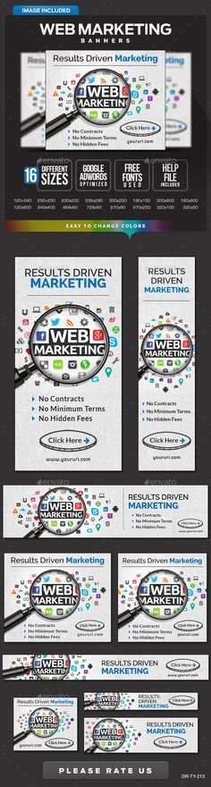 Web Marketing Banners Template PSD | Buy and Download: http://graphicriver.net/item/web-marketing-banners/9996359?ref=ksioks