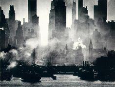 Andreas Feininger New York - 42nd Street viewed from Weehawken