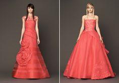 Itt-ott a nőies csipkebetét is felbukkan a ruhákon. Strapless Dress Formal, Prom Dresses, Formal Dresses, Vera Wang, Roses, My Style, Wedding, Fashion, Dresses For Formal