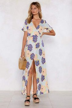 Nasty Gal The Flower of Love Maxi Dress Can You Feel It, How Are You Feeling, Nasty Gal, Floral Prints, Neckline, Silhouette, Flower, Dresses, Style