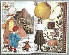 constance rose : art and life: 2017 Collage Book, Collage Art Mixed Media, Book Art, Painting Collage, Art Journal Pages, Junk Journal, Art Journals, Collages, Glue Book