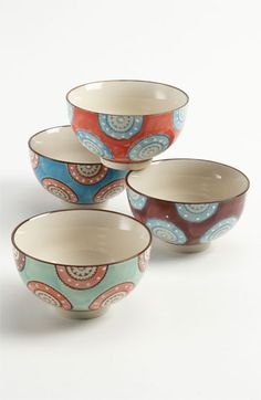 Hand Painted Bowls (Set of 4) | Nordstrom - love and inexpensive. $26