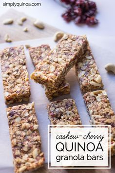 Healthy Granola Bars on Pinterest | Granola Bars, Recipe and Granola