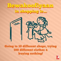 Yeah, this is the way we like to shop! ㋡ #BewakoofiyaanMerchandise