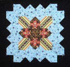 Lucy Boston Block 2 by Muriel for POTC Blog Along at Little Quilts