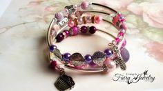 Bracciale spirale avvolgibile multi livello perle miste e ottone, by Evangela Fairy Jewelry, 9,00 € su misshobby.com
