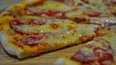 Pizza de casă. Gătim împreună cea mai gustoasă pizza de casă. Găsiți mai jos rețeta aluatului perfect, sosului delicios și 2 variante de umpluturi simple. Obțineți o pizza suculentă pe aluat subțire crocant. INGREDIENTE (pentru 2 pizza cu diametrul de 30 cm): Pentru aluat: -250 ml de apă caldă; -370 gr de făină; -4 gr de drojdie; -1 linguriță de sare; -1 lingură ulei de măsline sau ulei fără miros. Pentru sos (pentru 3 pizze): -1 cutie (600-700 gr) de roșii în suc propriu; -1 praf de piper… Pecorino Romano Cheese, Romanian Food, Fresh Mozzarella, Prosciutto, Pizza Dough, Hawaiian Pizza, Tomato Sauce, Sausage, Food And Drink