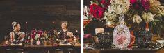 The NotWedding Atlanta Styled Shoot. Black, Gold and Hot Pink Wedding Decorations or Engagement Party - Bourbon and Cigar Engagement Party.  Decorations  Photo Credit: Jason Hales Photography