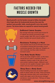 factors for muscle growth #fitnesstips #musclegains