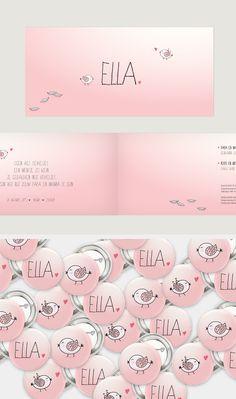 Ella, geboortekaartje meisje, geboortekaartjes, gent
