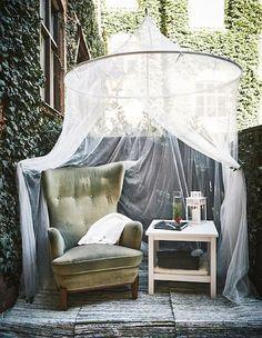 Small Balcony Furnishings-Styling-Interior-Small-Balcony-Design-Styling-Balcony Furniture-Furniture-Balcony-Design-Folding-Table-IKEA-Canopy-Sky-Sess … – Diandra Dubourg-Best Hair - All About Balcony