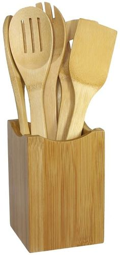 Oceanstar 7-pc. Bamboo Cooking Utensil Set