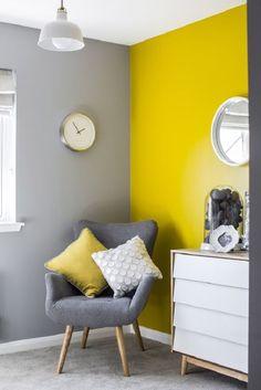 Bedroom Wall Designs, Bedroom Wall Colors, Room Colors, Living Room Designs, Living Room Paint, Living Room Decor, Bedroom Decor, Grey Interior Design, Interior Walls