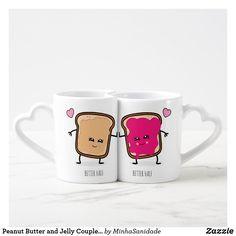 Shop Peanut Butter and Jelly Couples Coffee Mug Set created by MinhaSanidade. Couples Coffee Mugs, Coffee Mug Quotes, Couple Mugs, Coffee Mug Sets, Mugs Set, Coffee Tumbler, Couple Stuff, Coffee Cup, Coffee Mug Display