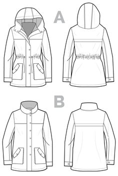 Kelly Anorak // Jacket sewing pattern // Closet Case Patterns