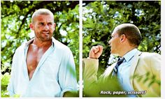 """Rock paper scissors?"" I laughed so hard at this! And then Linc is just like ""No, Michael. Let's be serious please."""