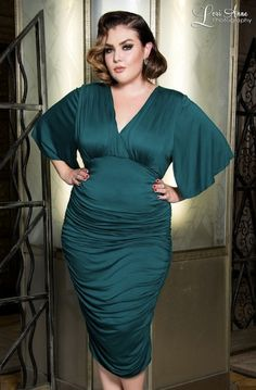 Butterfly Silhouette | 33 Plus Size Wedding Guest Dresses for Curvy Ladies Attending Autumnal Nuptials This Fall | Bustle