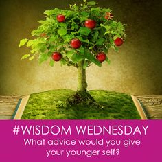 Intellect can be taught, wisdom cannot. Today's #WisdomWednesday is a celebration of life experience and hard-won wisdom. What would you tell a younger version of yourself if you had the chance? I'd love to hear your answers. Put your answers down in your handy journal or share in the comments below! #LifeLessons #Wisdom
