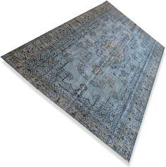 Lichtblauw vintage vloerkleed (3.02 x 1.98 m) N°611