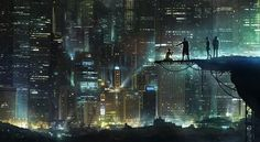Cyberpunk, Neo Noir, Futuristic CIty O.O The Adytum taking care of business. (or their lackeys, anyhow)