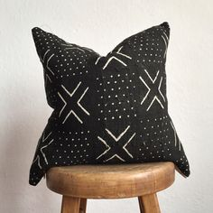 Authentic African Mudcloth Pillow by ThimbleandCloth on Etsy https://www.etsy.com/listing/250168489/authentic-african-mudcloth-pillow
