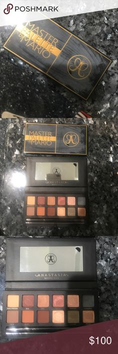 Anastasia Master Palette by Mario !!Discontinued!! Beautiful palette needs a new home. Gently used. Perfect palette for the fall! Sanitized and ready to use. Brush has never been used, it is still in the plastic 😊 Anastasia Beverly Hills Makeup Eyeshadow